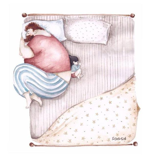 Preciosas ilustraciones que reflejan el amor más tierno entre padre e hija