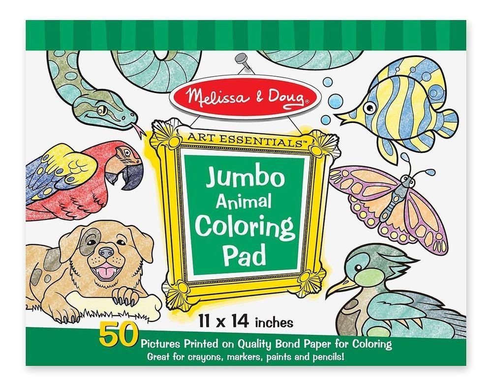 Melissa Doug Jumbo Coloring Pad - Animals | libadia | Pinterest