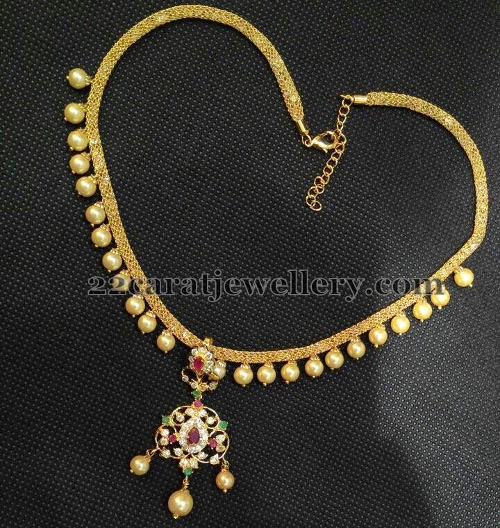 Indian Simple Gold Necklace Designs Jewellery Designs: 1 G...