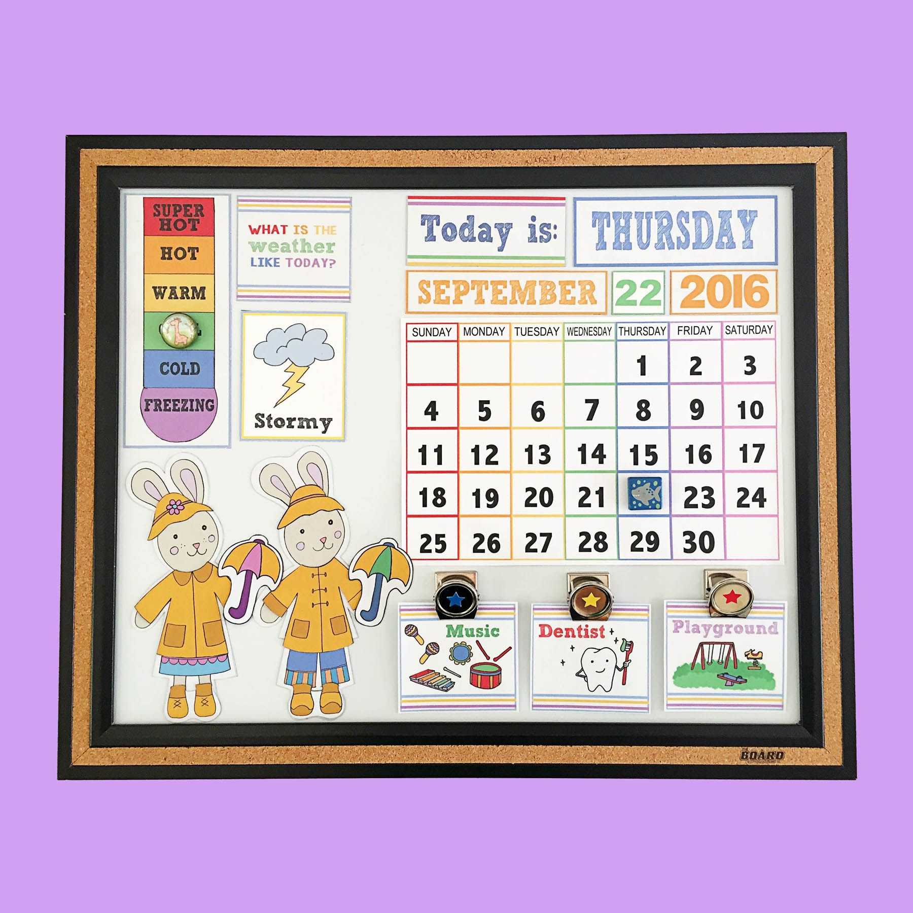 Diy childrenus calendar with free printables month weather daily