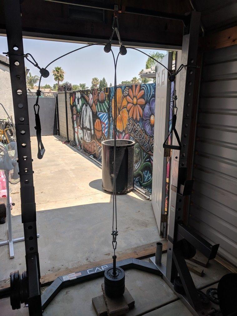 Back Yard Gym Homemade Cable Machine Cablehomegym At Home Gym Diy Home Gym Home Made Gym