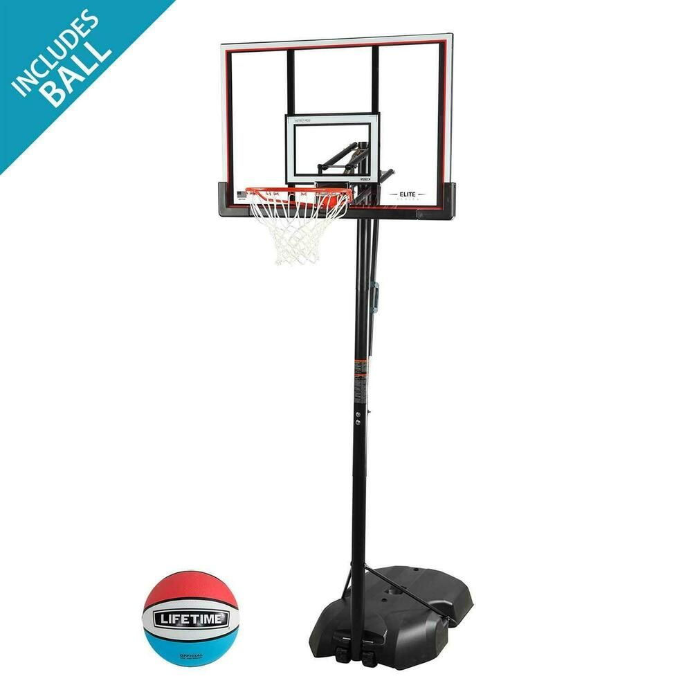 Advertisement Ebay Lifetime Adjustable Portable Basketball Hoop Ring Outdoor Sports Front Portable Basketball Hoop Basketball Hoop Adjustable Basketball Hoop