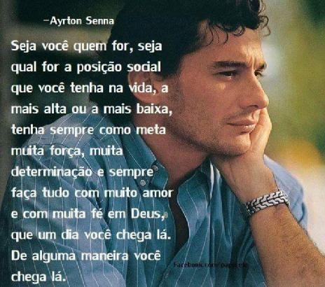 Reflexão De Ayrton Senna Do Brasil Ayrton Senna Frases