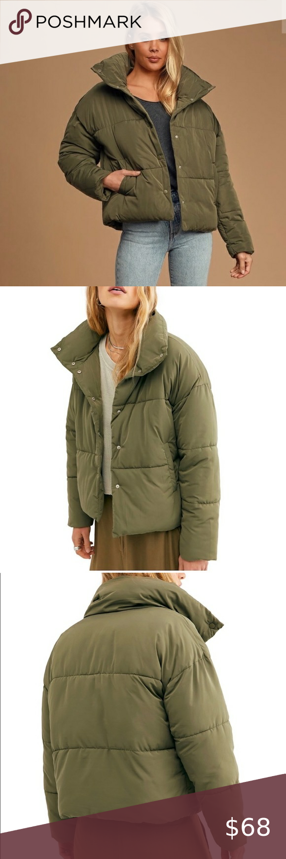 Free People Weekender Puffer Jacket Nwt Stay Warm And On Trend Featuring Mock Neck Front Snap Closure And Poc In 2020 Free People Jacket Puffer Jackets Olive Free [ 1740 x 580 Pixel ]