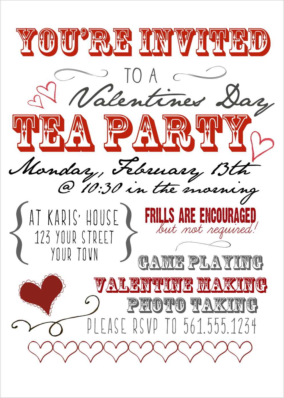 Valentine\'s Day Tea Party | Wedding Invitations and Save the Dates ...