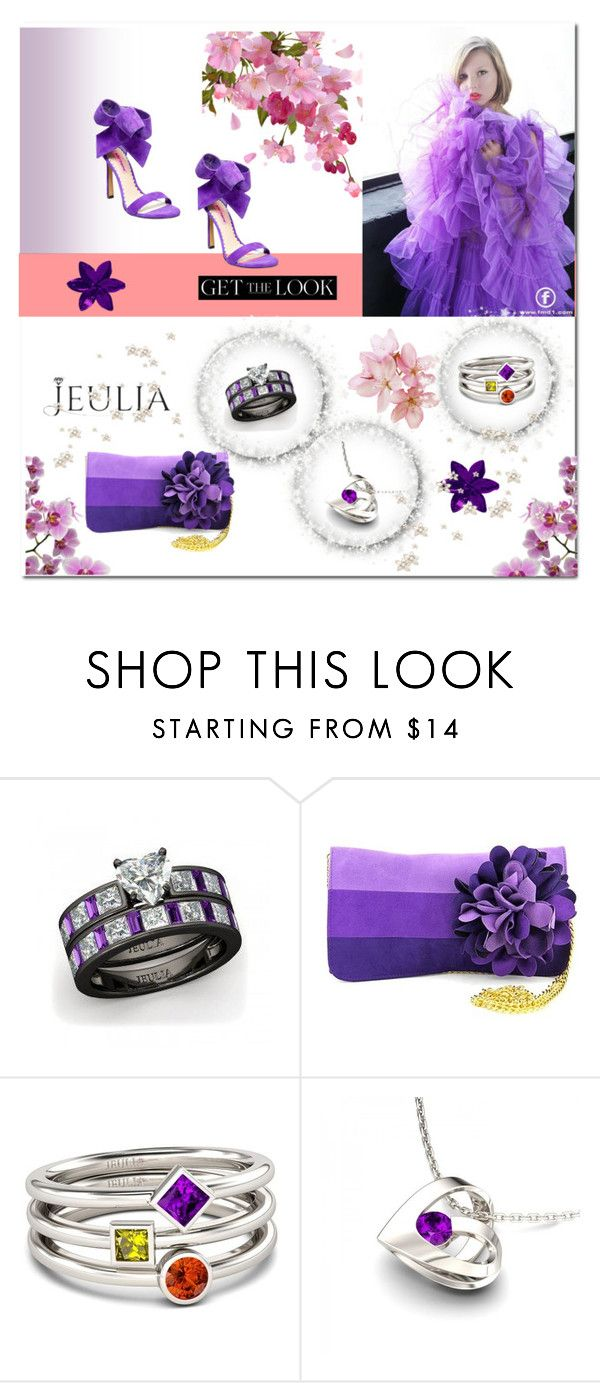 """Violet dream - Jeulia jewelry"" by e-mina-87 ❤ liked on Polyvore featuring Nikon, Shiraleah, Betsey Johnson, women's clothing, women, female, woman, misses, juniors and jewelry"