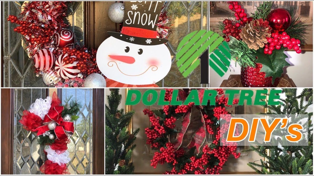 Four Dollar Tree Diys For The Holidays Christmas Decorations For Less Youtube Holiday Decor Christmas Christmas Decorations Dollar Tree Diy