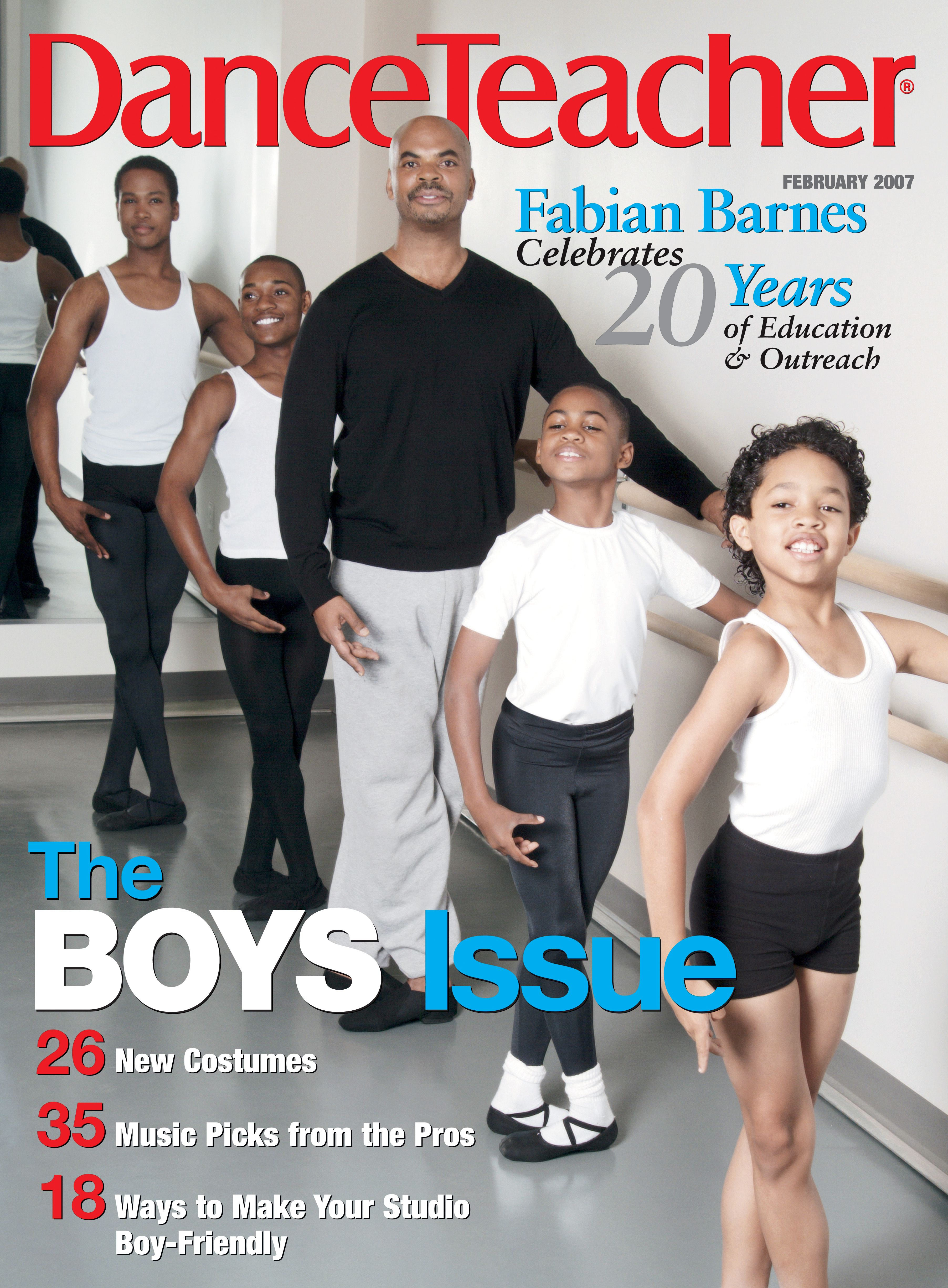 Fabian Barnes and the Dance Institute of Washington celebrated 20 years on Dance Teacher's Feb 2007 cover.