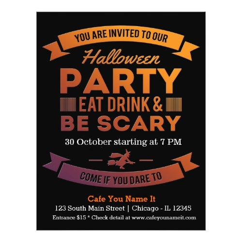Halloween cocktail(background color can be change) flyer 2017 - halloween poster ideas