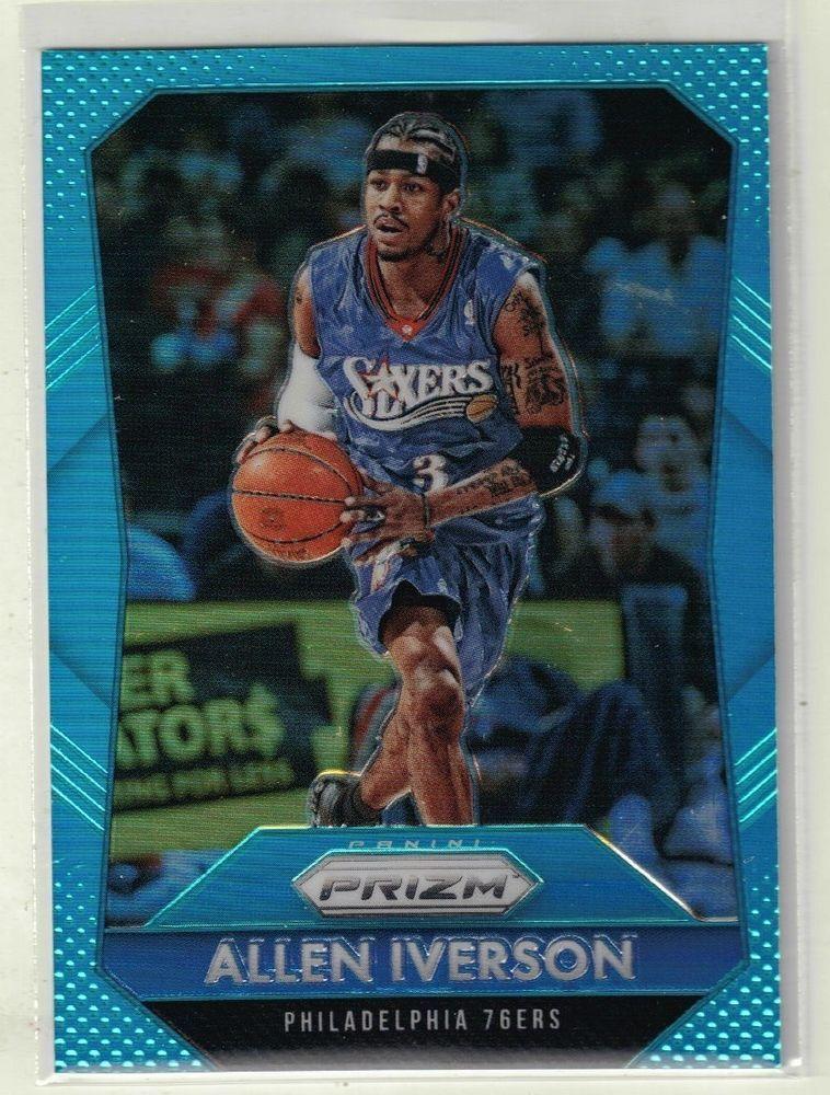201516 prizm basketball allen iverson blue refractor card