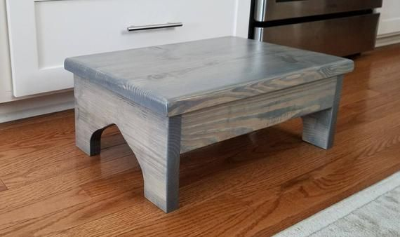 Large Wood Step Stool The Surrey 20x14x8 Foot Stool