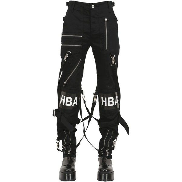 3b78c876f58f HBA HOOD BY AIR 16.5cm Punk Stretch Cotton Denim Jeans - Black found on  Polyvore
