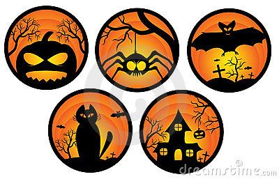 Halloween stickers stock vector. Illustration of c