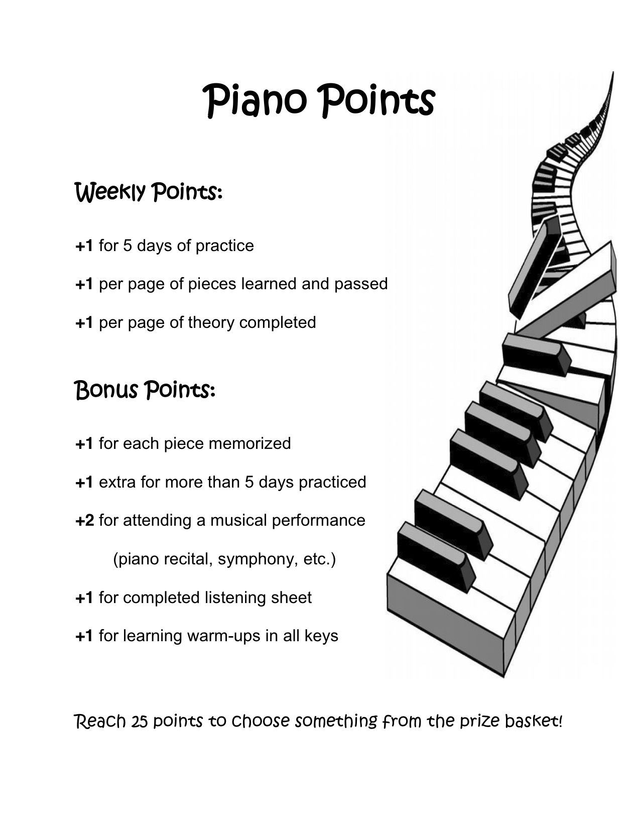 Piano points with images piano pedagogy piano teacher