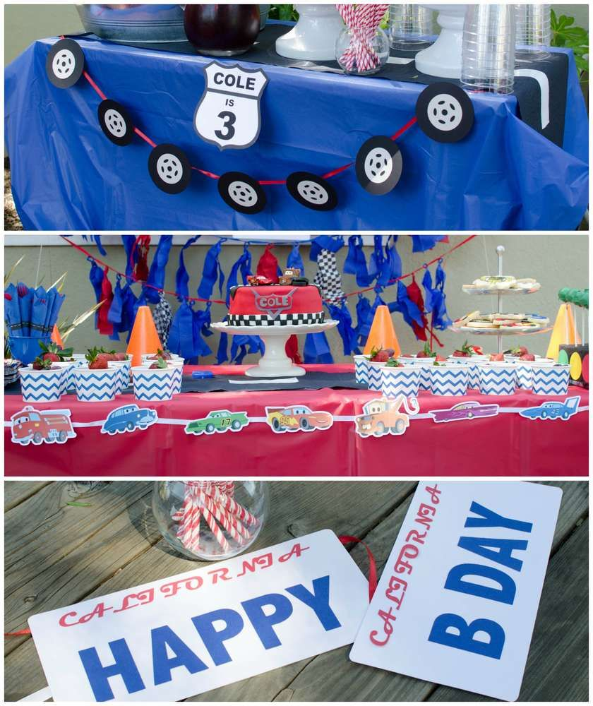 Lightning Mcqueen Cars Birthday Party Decorations See More Ideas At Catchmyparty Also Blaize Bday Rh Br