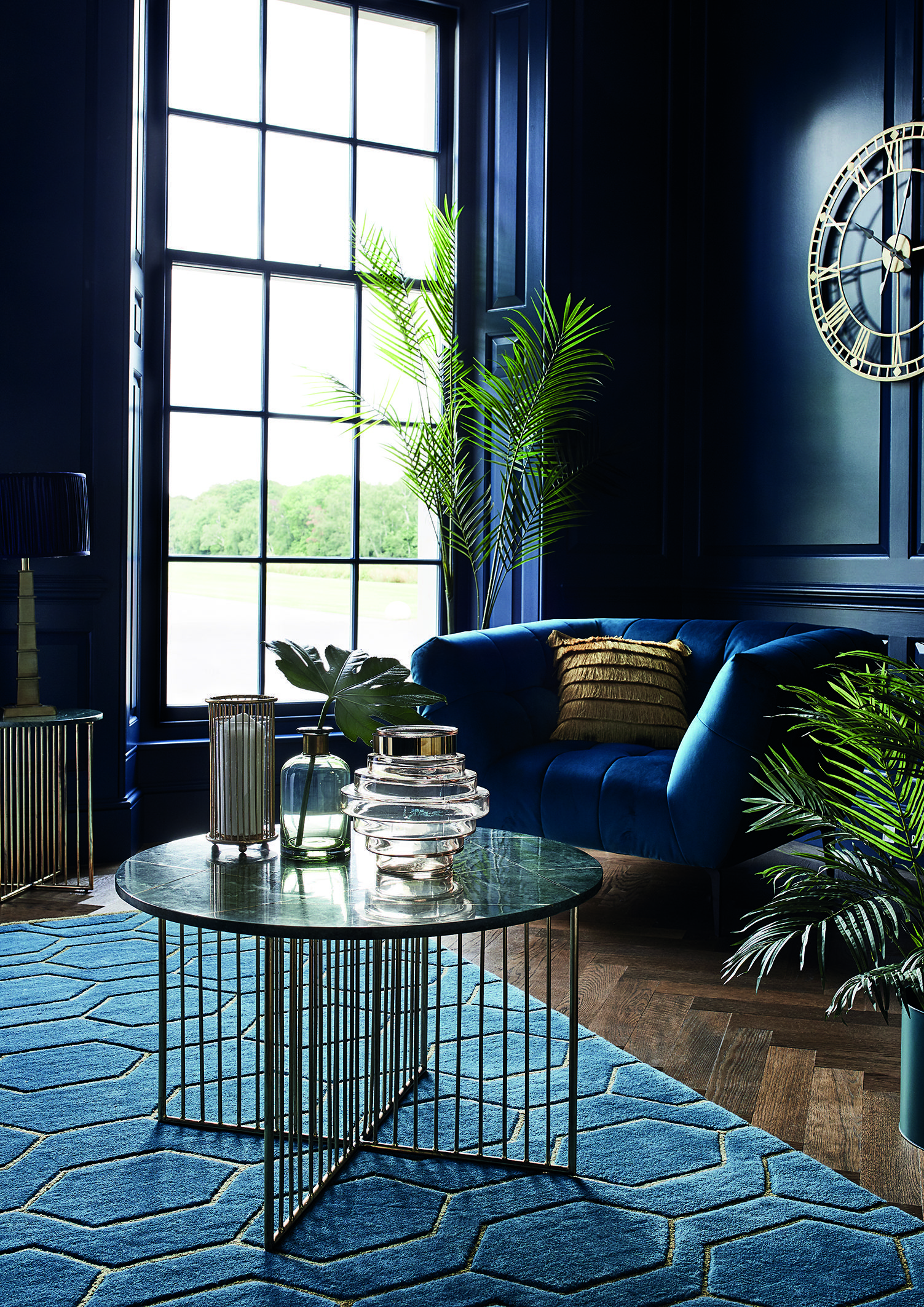 Inspiration Living Room Designs Blue Gold Living Room Art