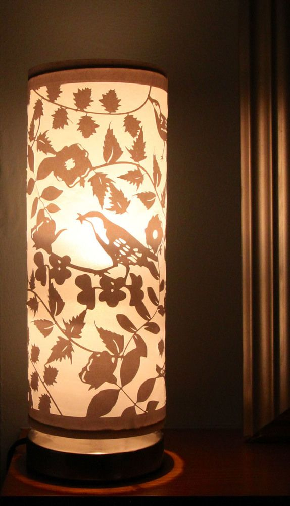 Beautiful and unique handmade paper cut lampshade (or with base) 38.00