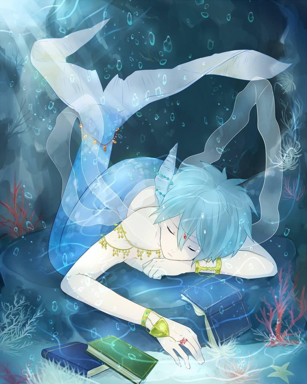 Pin by alessandra🌸 on Toons  Anime mermaid, Anime merman, Anime