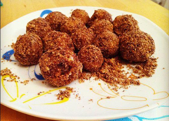 Marzipankugeln mit Creamcheese-Schokolade-Füllung! <3