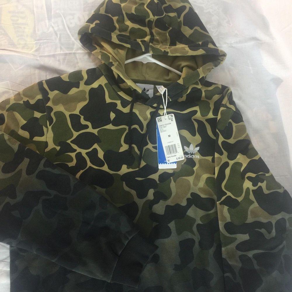 Adidas Originals Camo Hoodie Men's Sz Medium Camouflage