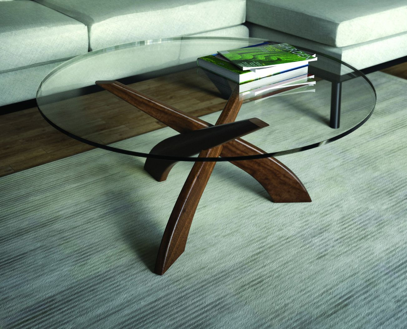 Entwine Coffee Table Round Glass Coffee Table Coffee Table Modern Coffee Table Decor [ 1053 x 1304 Pixel ]