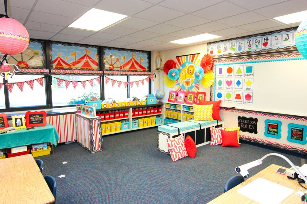 Circus Classroom Decoration ~ Take a tour of my vintage circus kindergarten classroom