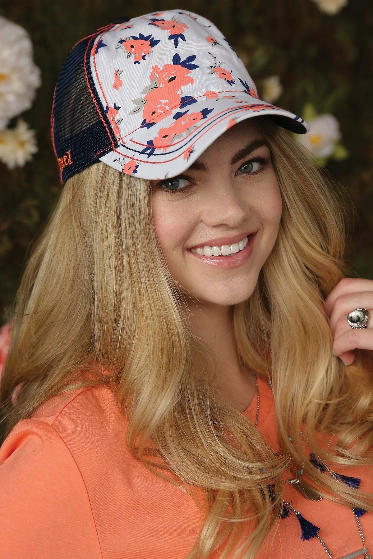 f116c22bf Womens Floral Print Trucker Cap | Products | Cruel girl, Cap, Hats