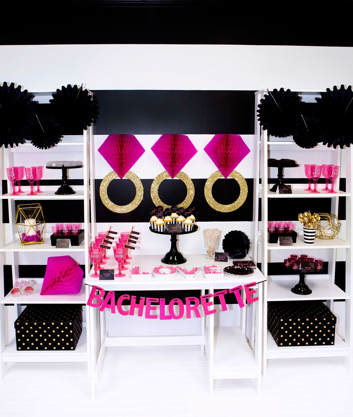 7947a6b265ed Kate Spade Inspired Party - Bachelorette Party Ideas - Black Pink ...