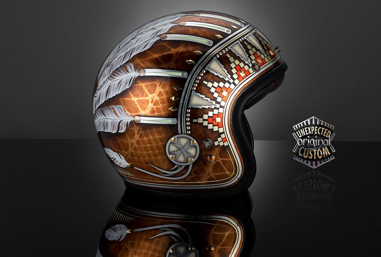 Custom Motorcycle Helmet Indian Bell Custom 500 Custom Motorcycle Helmet Motorcycle Helmets Motorcycle Helmets Art