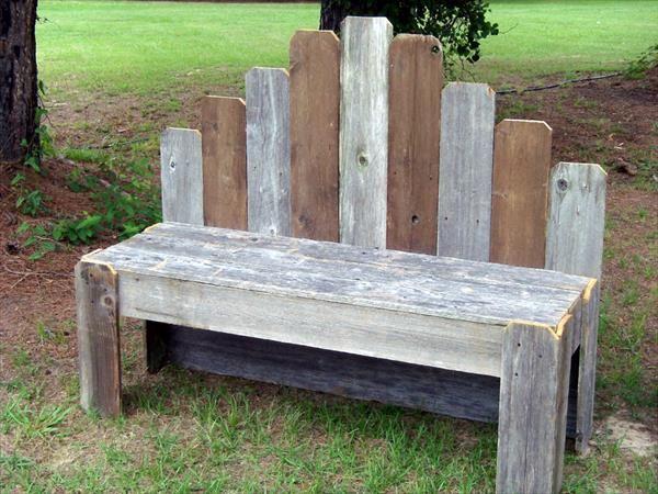 DIY Pallet Garden Bench | Pallet Furniture DIY Part 93
