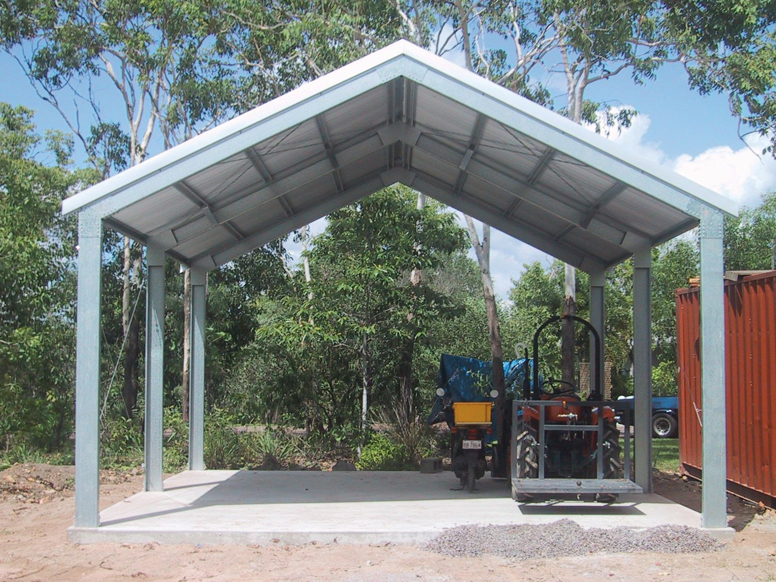 Best A High Pitch Roof On A Carport Is Desirable When Matching 400 x 300