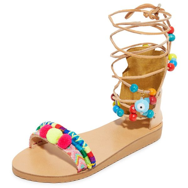 c95daef0f35f0 Elina Linardaki Picolo Gladiator Sandals ( 240) ❤ liked on Polyvore  featuring shoes