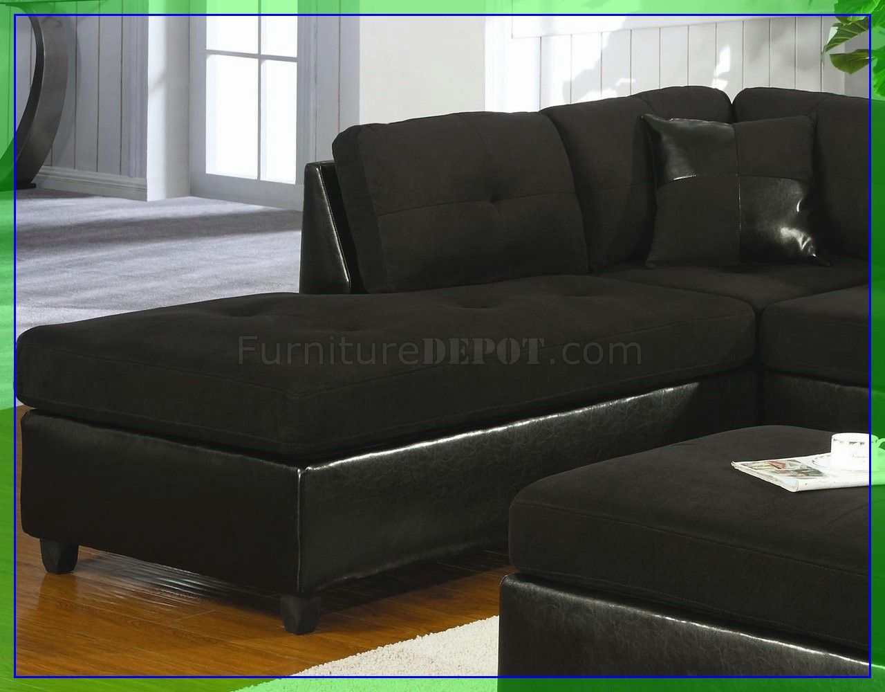 189 Reference Of Black Sectional Couch Microfiber In 2020 Sectional Couch Leather Couch Decorating Couch Decor