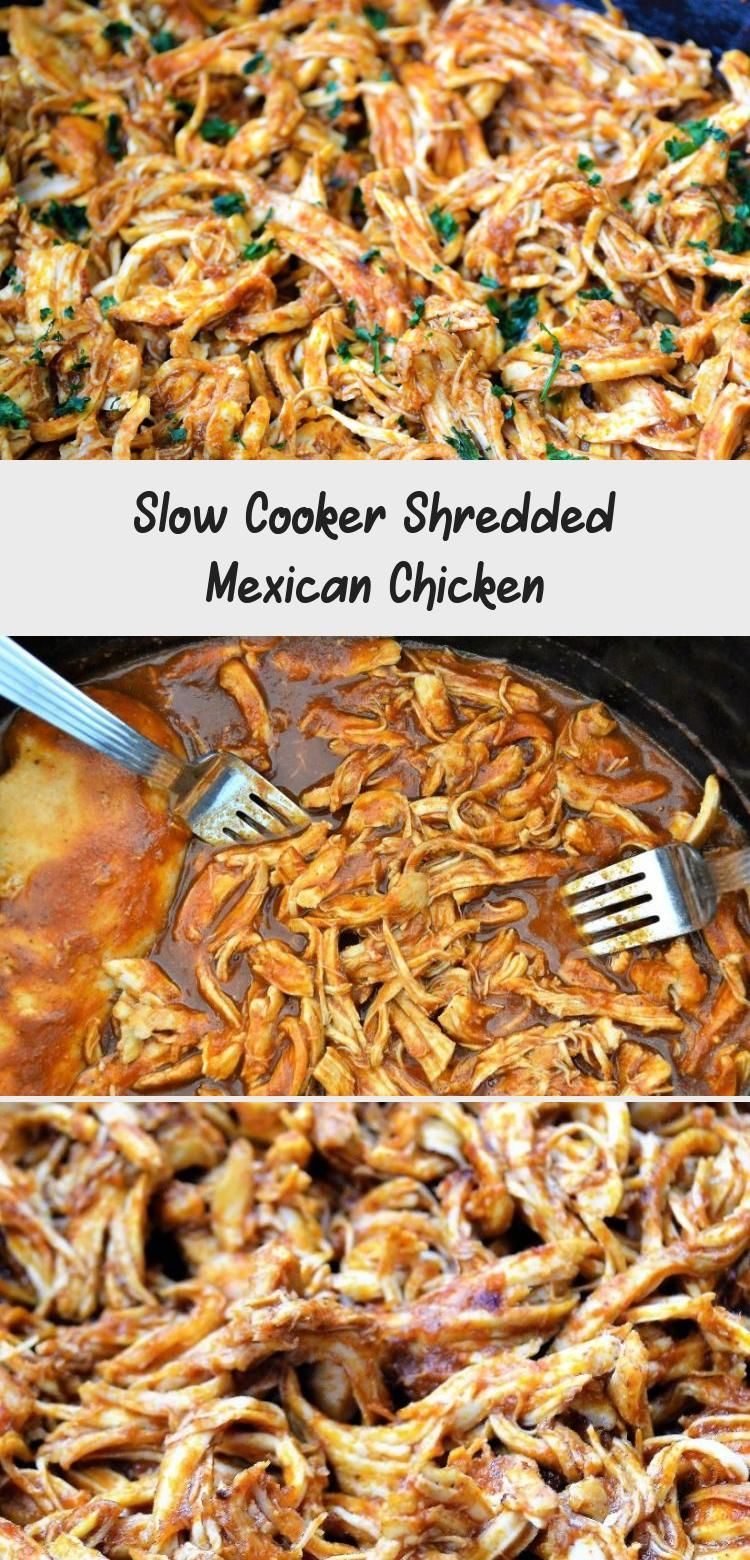 Slow Cooker Shredded Mexican Chicken #mexicanchickentacos
