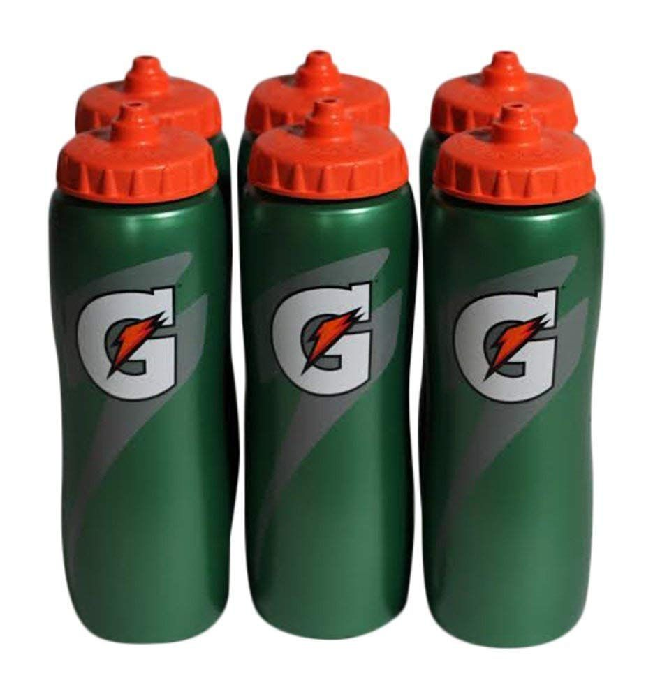 Gatorade 32 Oz Squeeze Water Sports Bottle Value Pack of