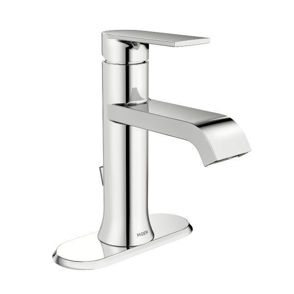 genta chrome onehandle bathroom faucet moen