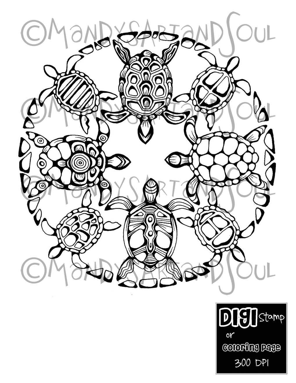 Coloring sheets for adults flamingo - 12 Curated Instantly Printable Coloring Pages And Digi Stamps