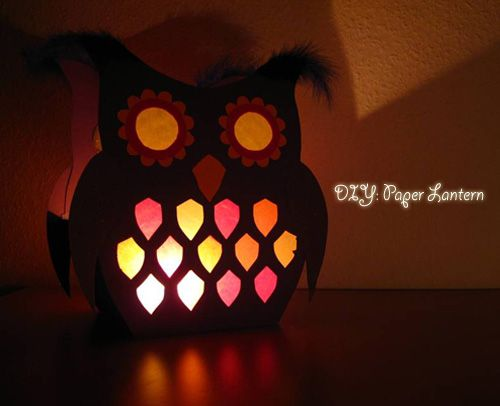 Diy Owl Lantern With Template