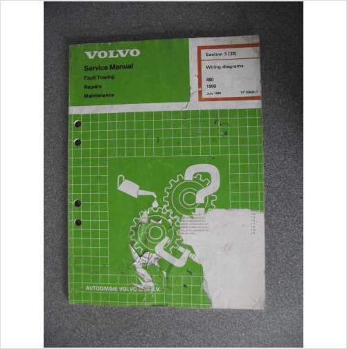 Volvo 480 Wiring Diagrams Manual 1990 Tp35604  1 On Ebid