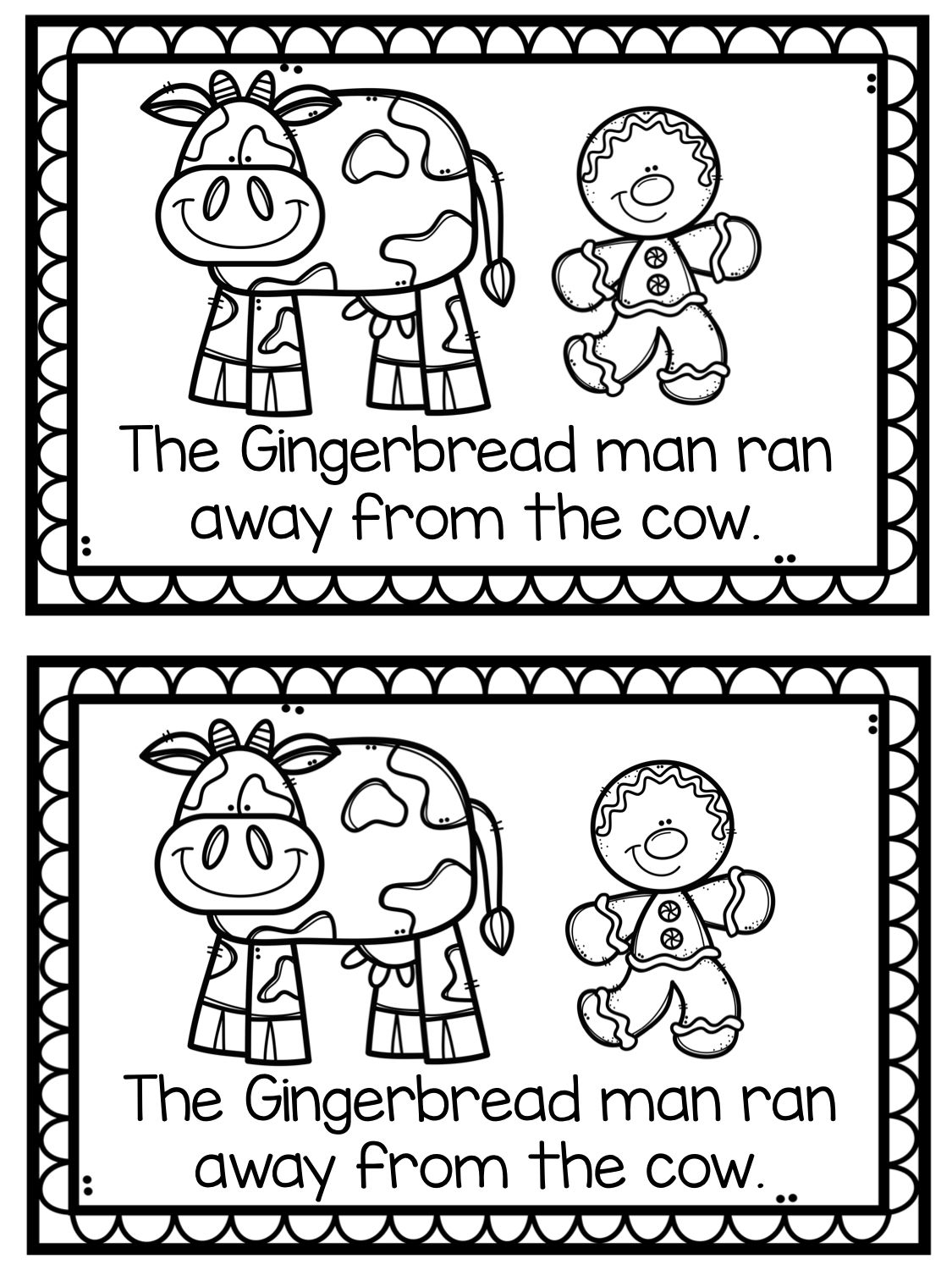 The Gingerbread Man Emergent Reader