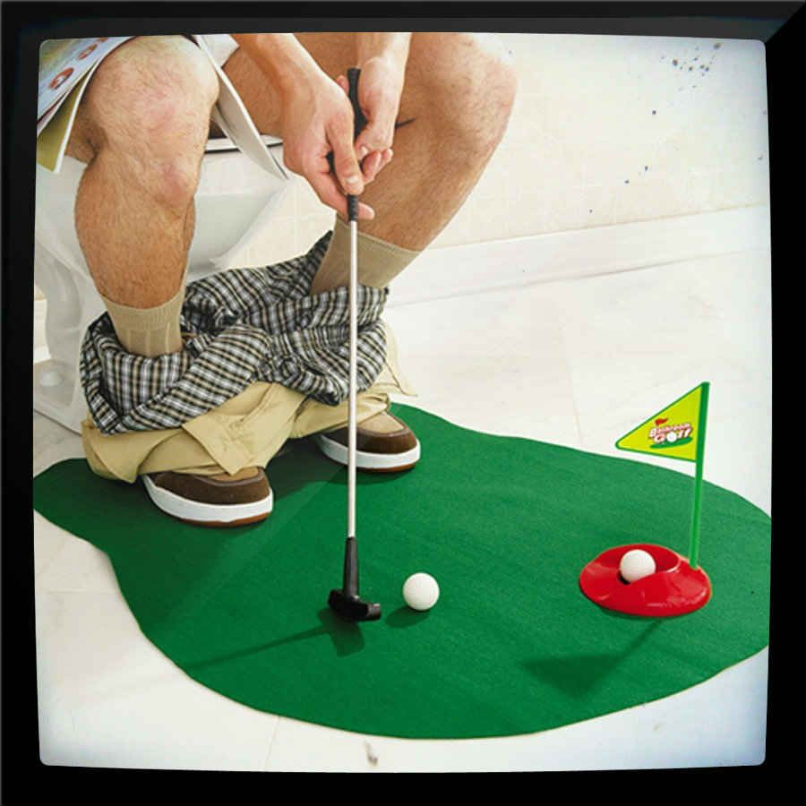 13 37 The Potty Putter Is A Toilet Time Mini Golf Game For Those