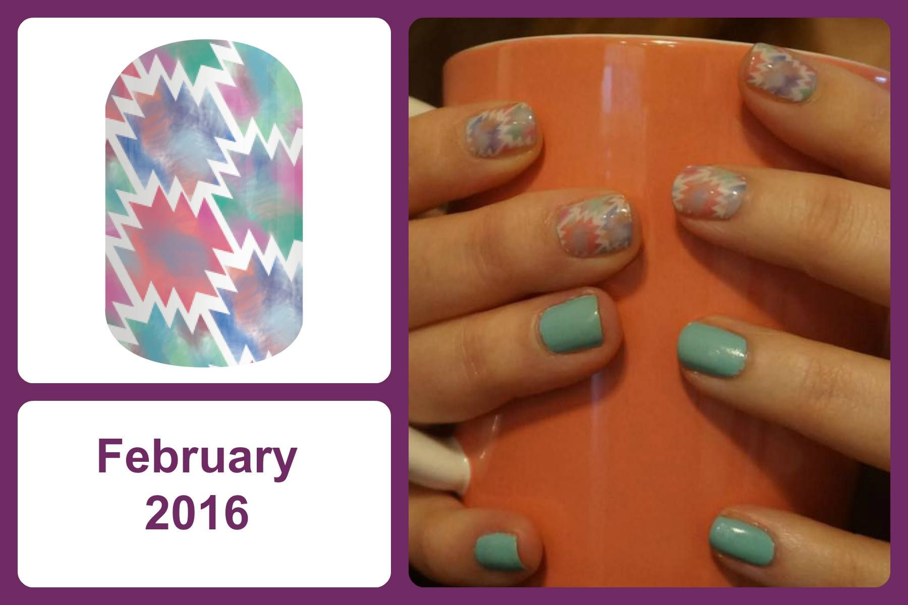 Jamberry Hostess Exclusive nail wrap for February (with Iced Kiss ...