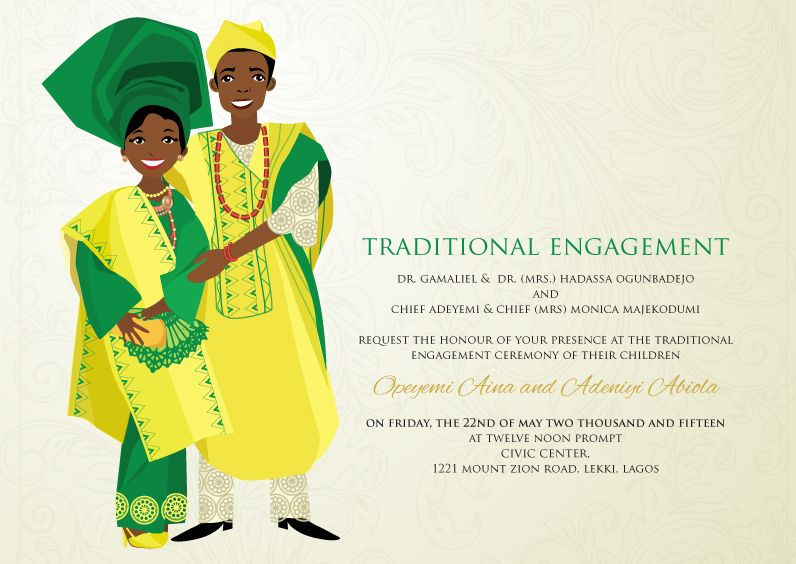 17 Best images about Naija American Wedding – Traditional Wedding Invitation Card