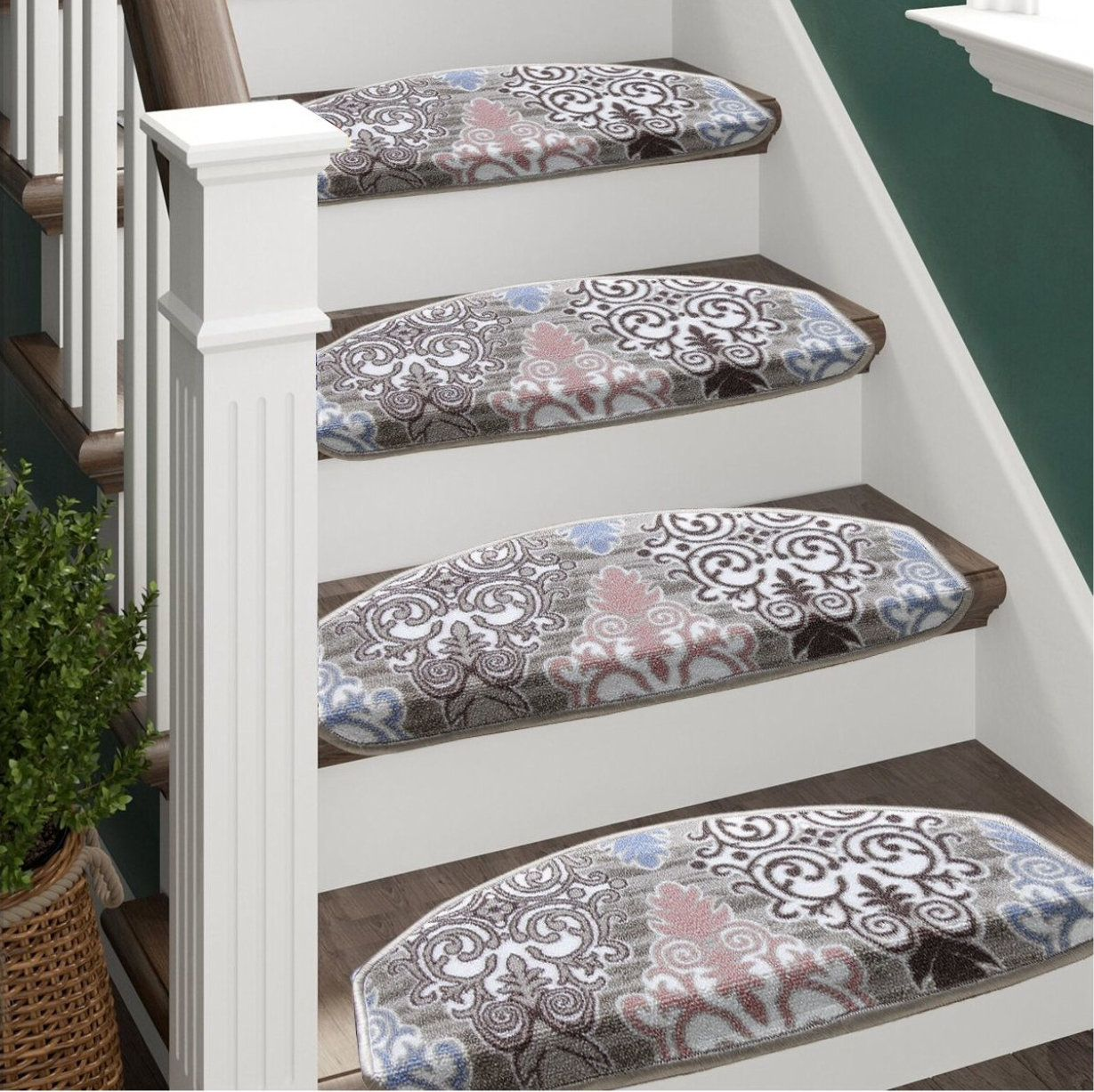 Best Staircase Rung Carpet Colorful Carpet Padded Carpet 400 x 300