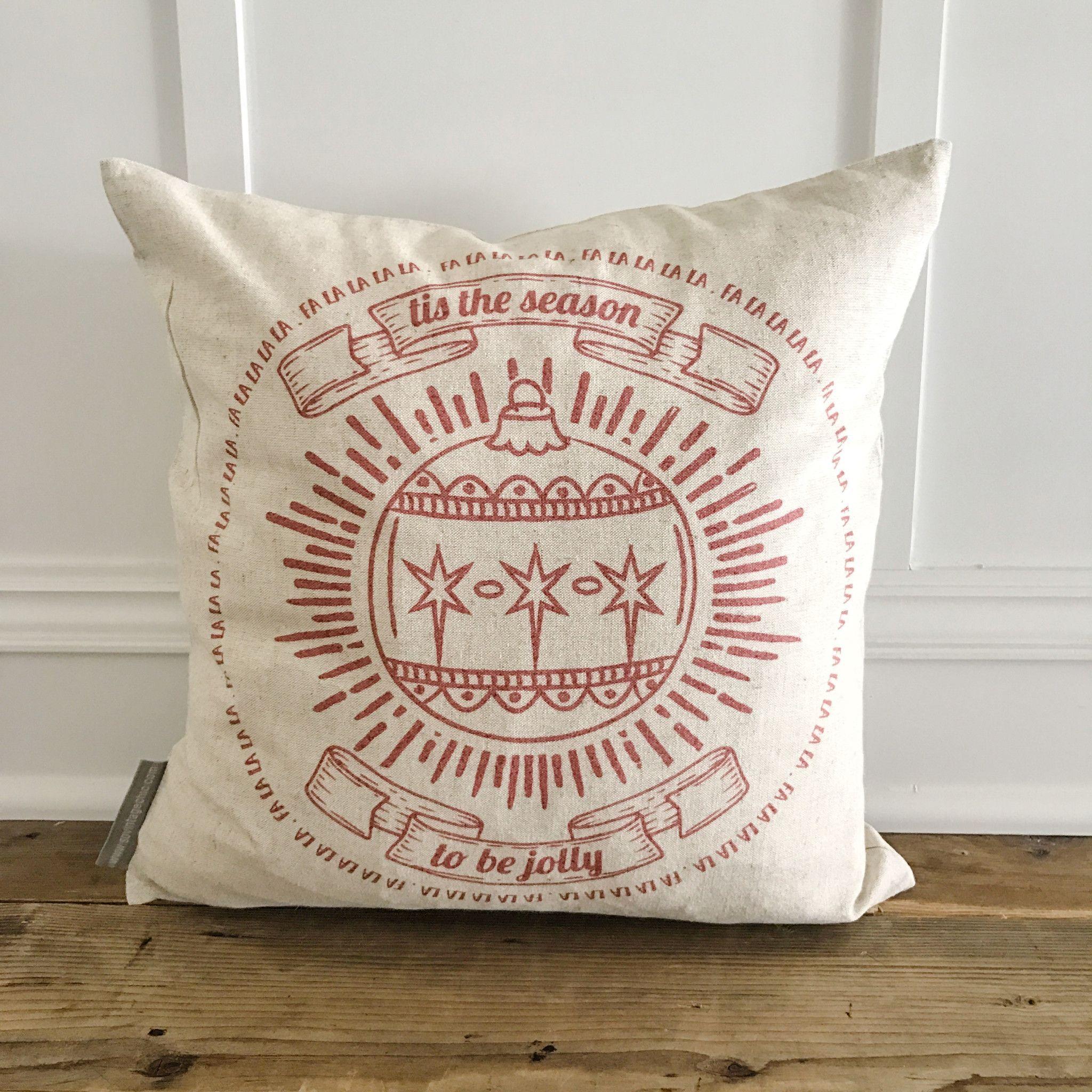 Falalalala Pillow Cover (Red) | Linen pillows, Pillows and ...