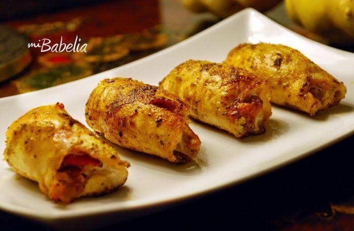 (PP)   Ingredientes  4 filetes de pollo  4 lonchas de jamón de pavo  1/2 tomate  1 cs de queso batido  4 hojas de salvia  1/2 de mostaza ...