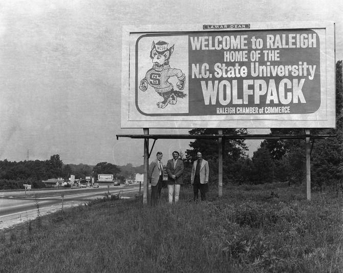 Dobrodošli v Raleigh Vintage Billboard, 1970 - Wish Raleigh-4450