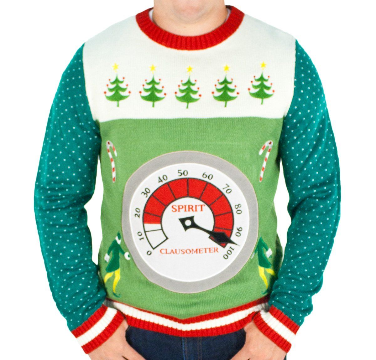 Elf the Movie Lighted Clausometer Sweater - Ugly Christmas Sweater ...