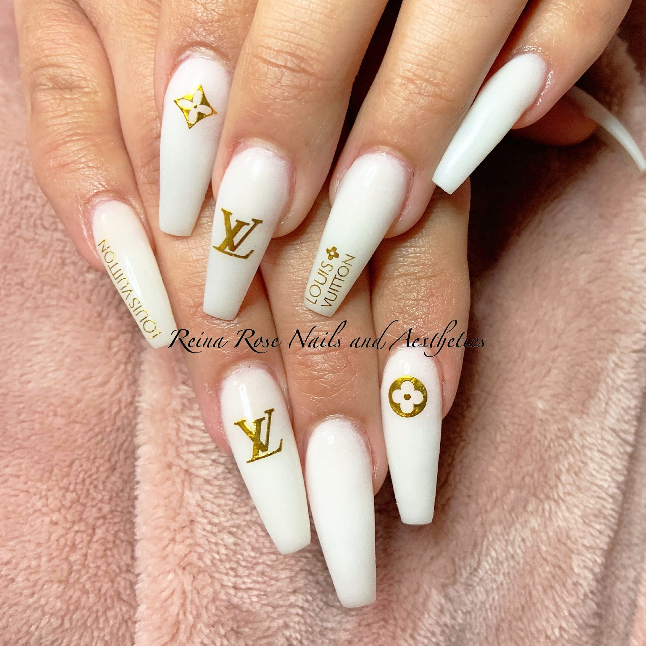 Milky White Acrylic In 2020 Chanel Nails Design Chanel Nails Best Acrylic Nails