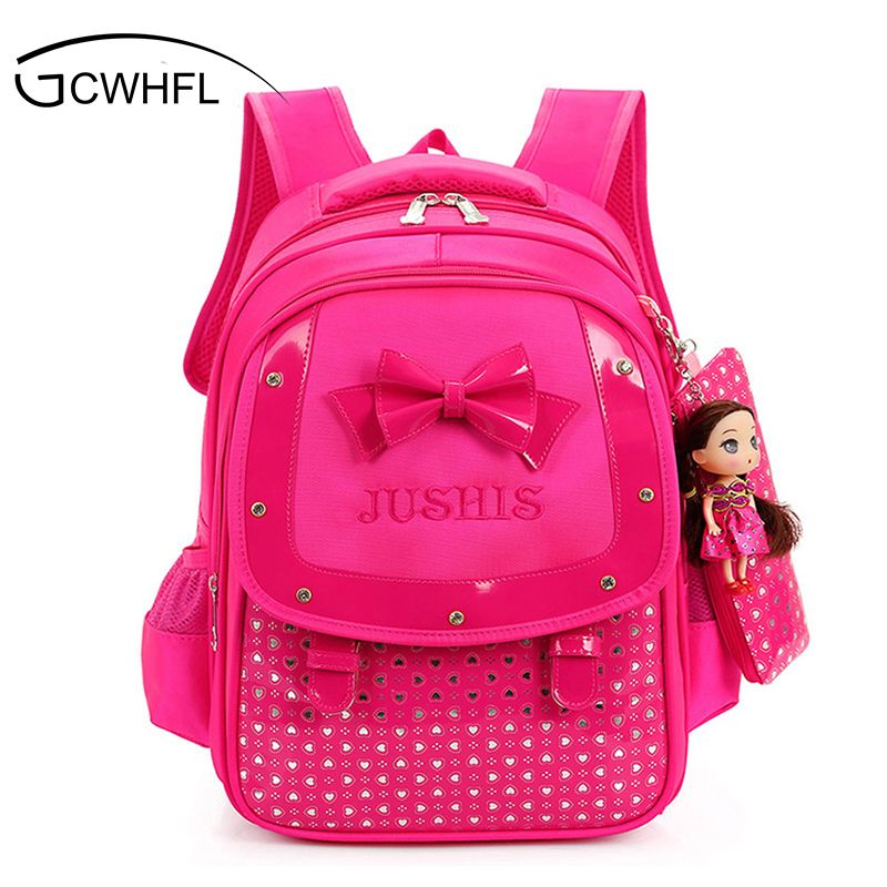 dbfe56dded5 Cute Girls Backpacks Kids Satchel Children School Bags For Girls Orthopedic  Waterproof Backpack Child School Bag